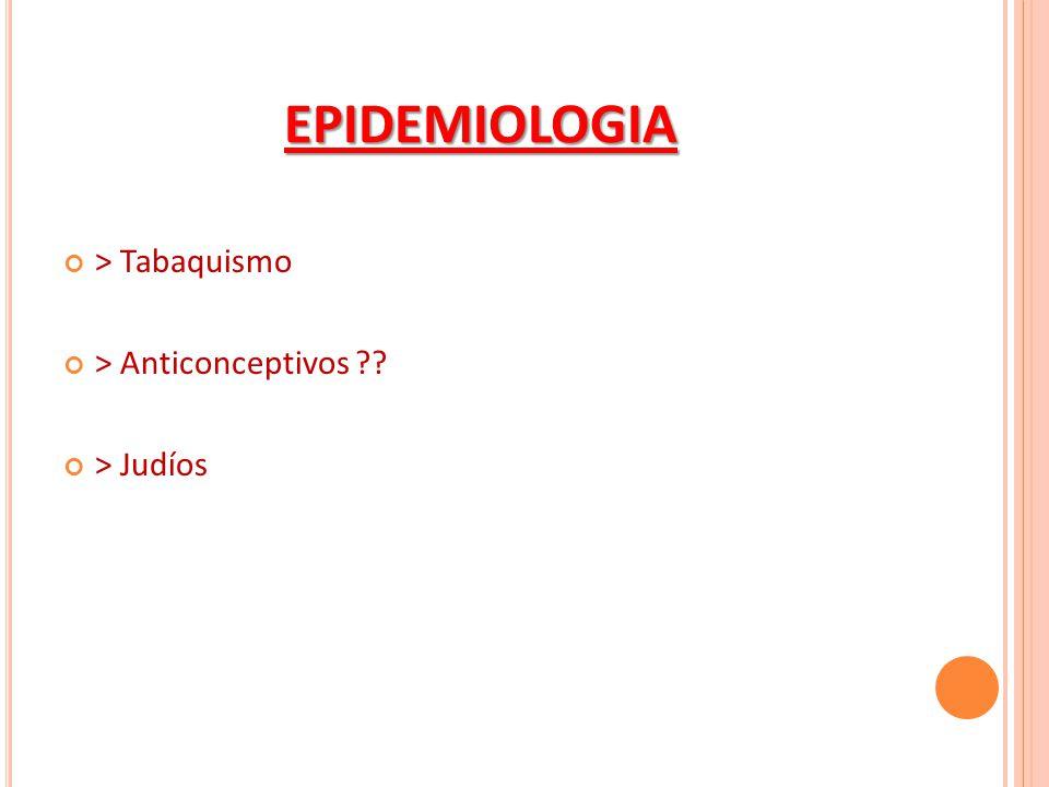 EPIDEMIOLOGIA > Tabaquismo > Anticonceptivos > Judíos