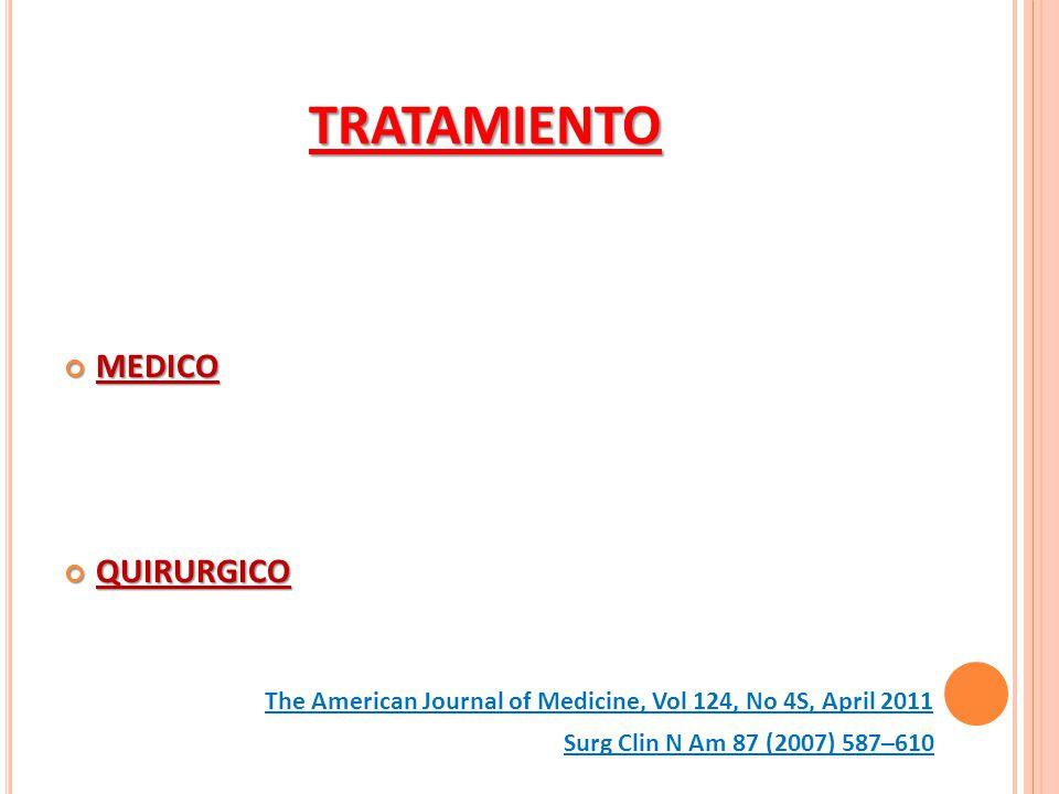 TRATAMIENTO MEDICO QUIRURGICO