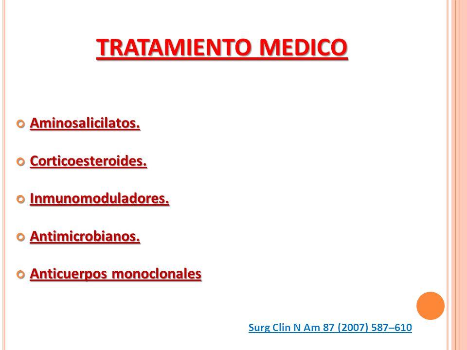 TRATAMIENTO MEDICO Aminosalicilatos. Corticoesteroides.