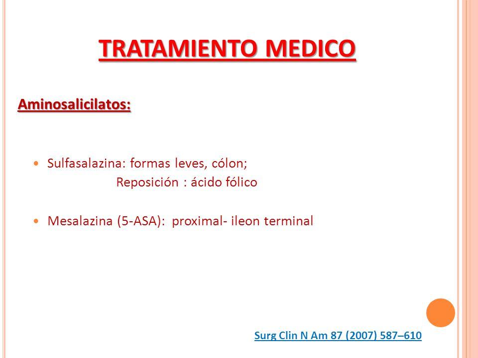 TRATAMIENTO MEDICO Aminosalicilatos: