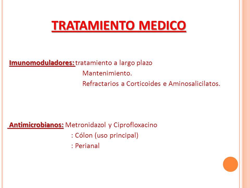 TRATAMIENTO MEDICO Imunomoduladores: tratamiento a largo plazo