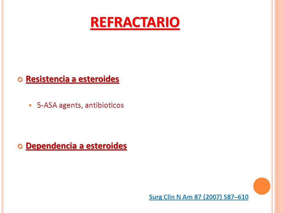 REFRACTARIO Resistencia a esteroides Dependencia a esteroides