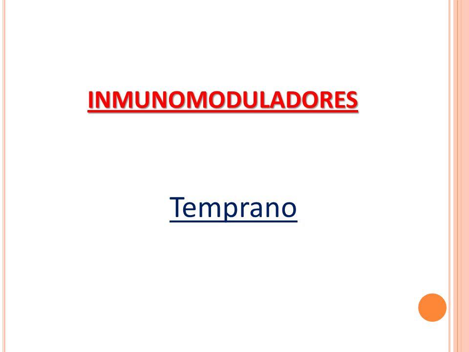 INMUNOMODULADORES Temprano