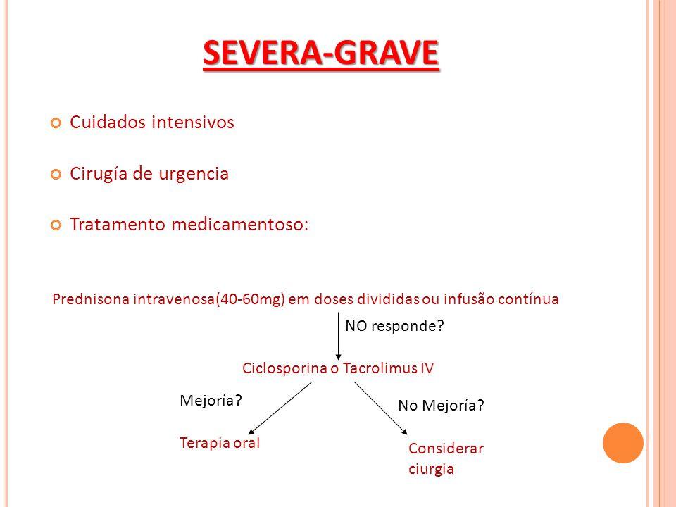 SEVERA-GRAVE Cuidados intensivos Cirugía de urgencia