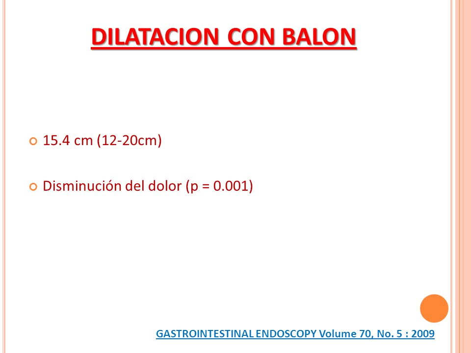 DILATACION CON BALON 15.4 cm (12-20cm)