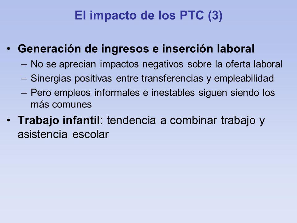 El impacto de los PTC (3) Generación de ingresos e inserción laboral