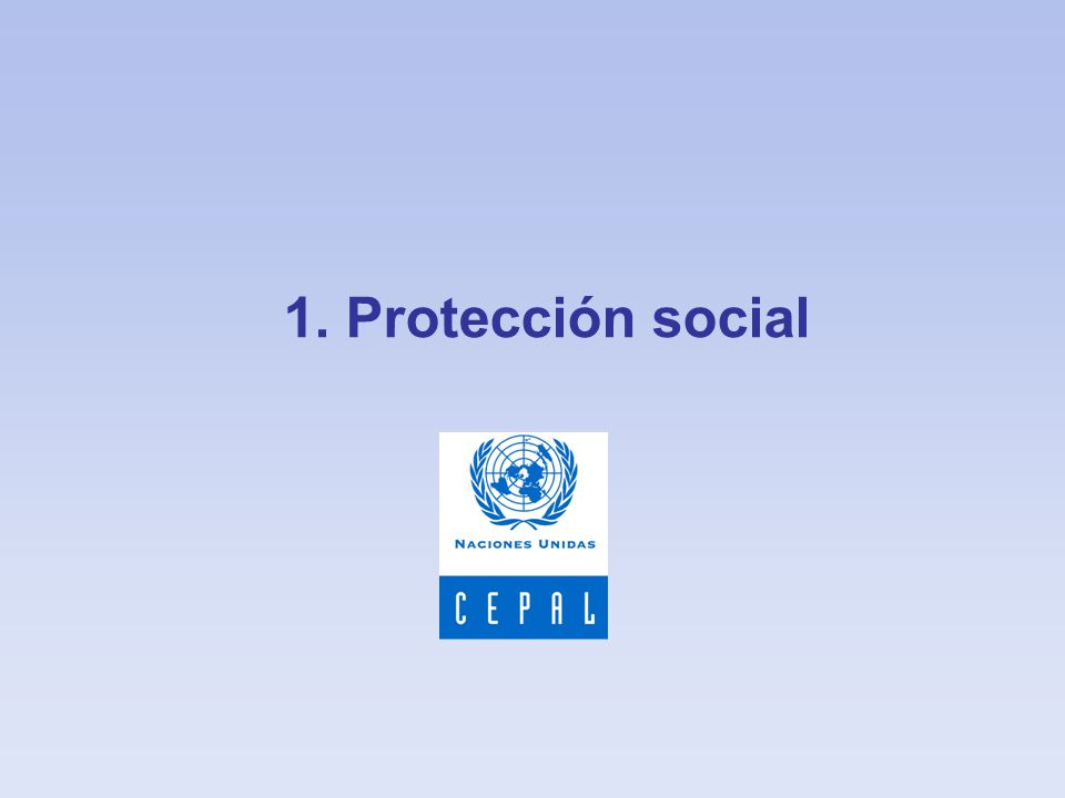 1. Protección social