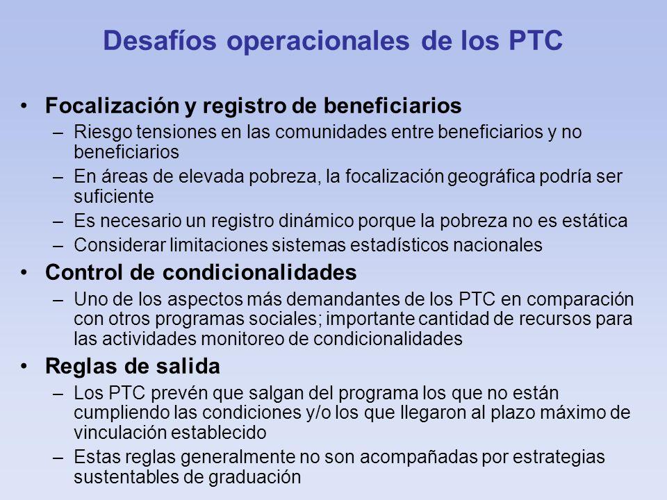 Desafíos operacionales de los PTC