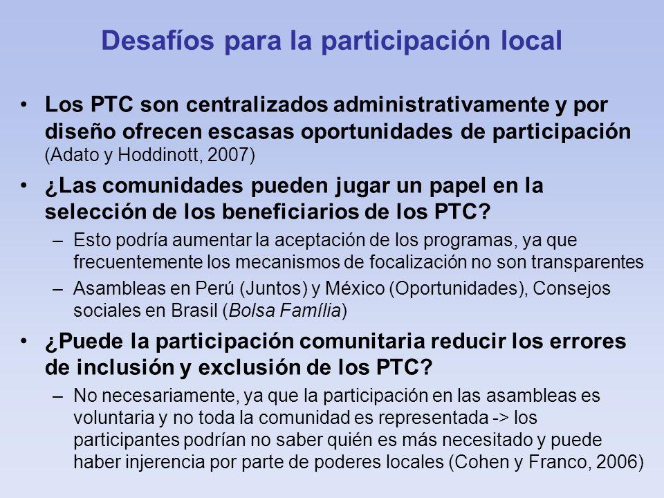 Desafíos para la participación local