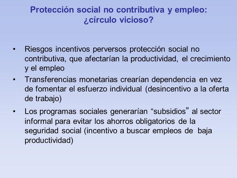 Protección social no contributiva y empleo: ¿círculo vicioso