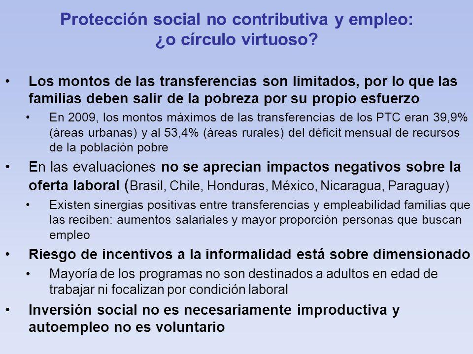 Protección social no contributiva y empleo: ¿o círculo virtuoso