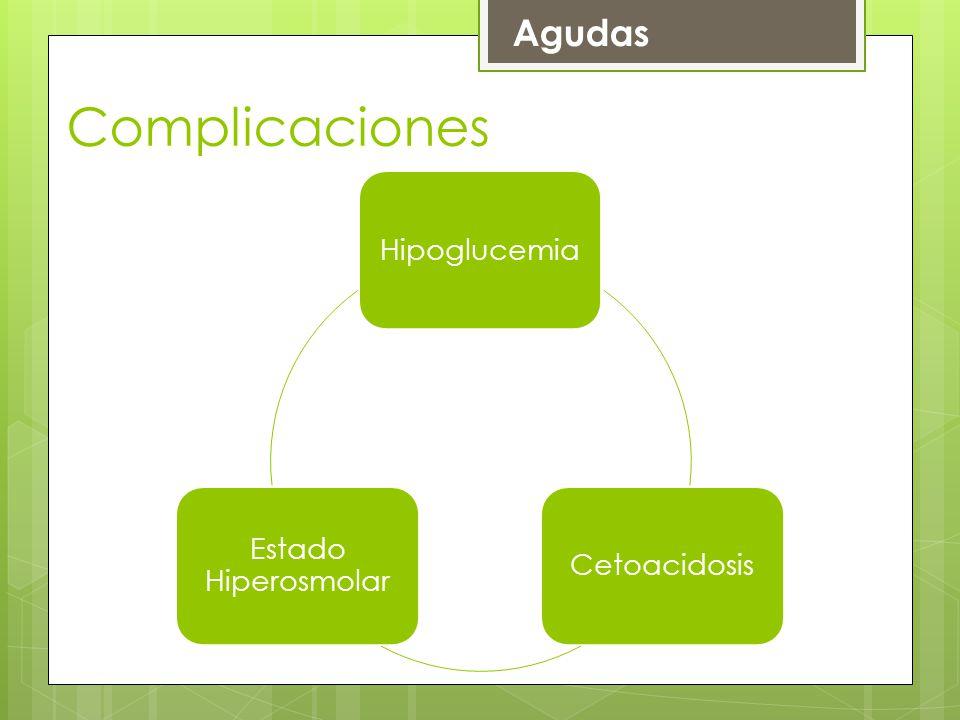 Agudas Complicaciones Hipoglucemia Cetoacidosis Estado Hiperosmolar