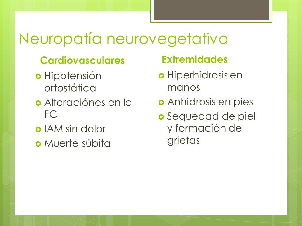 Neuropatía neurovegetativa