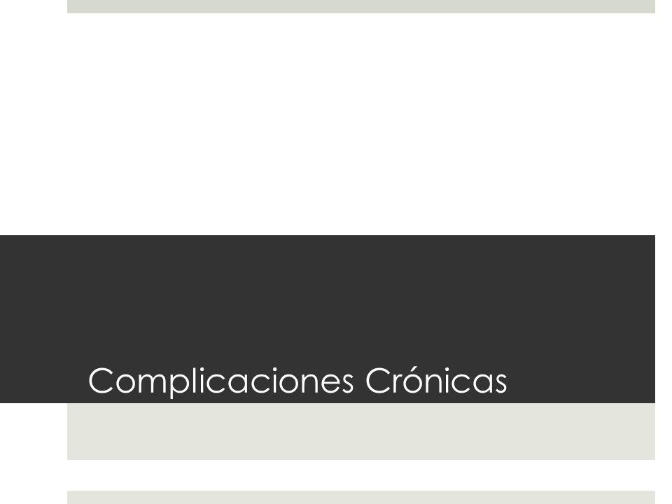 Complicaciones Crónicas