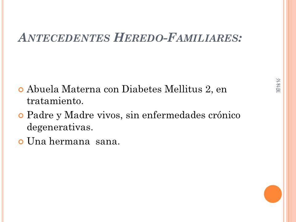 Antecedentes Heredo-Familiares: