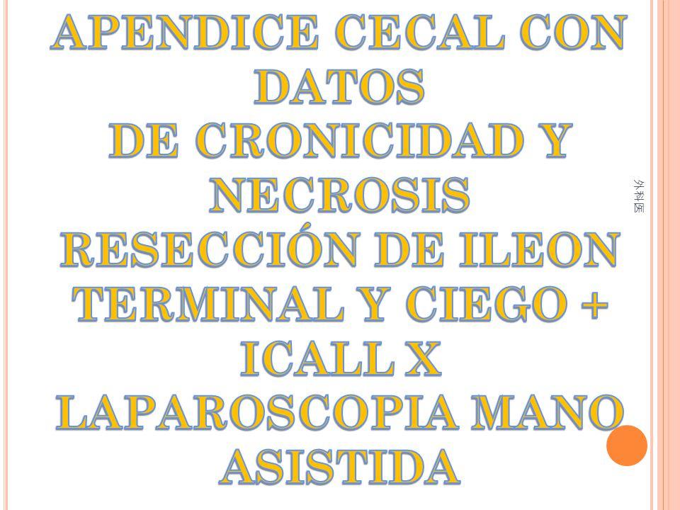 APENDICE CECAL CON DATOS DE CRONICIDAD Y NECROSIS