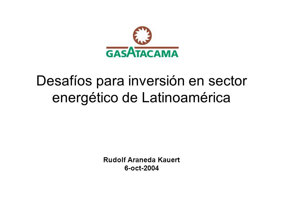 Desafíos para inversión en sector energético de Latinoamérica