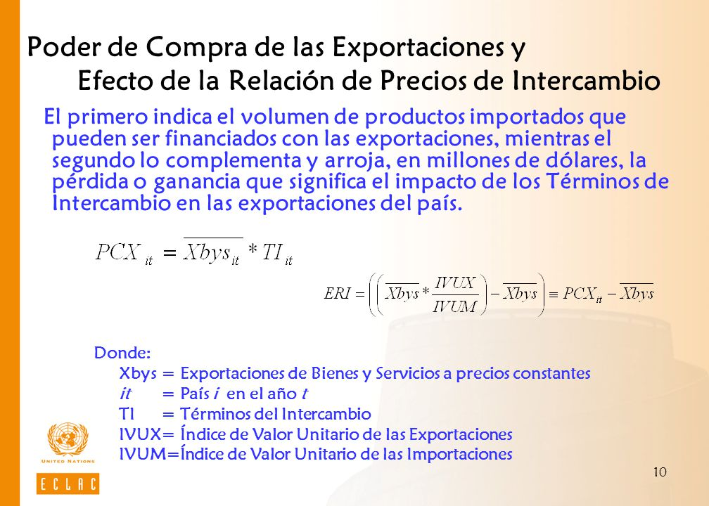 Poder de Compra de las Exportaciones y Efecto de la Relación de Precios de Intercambio