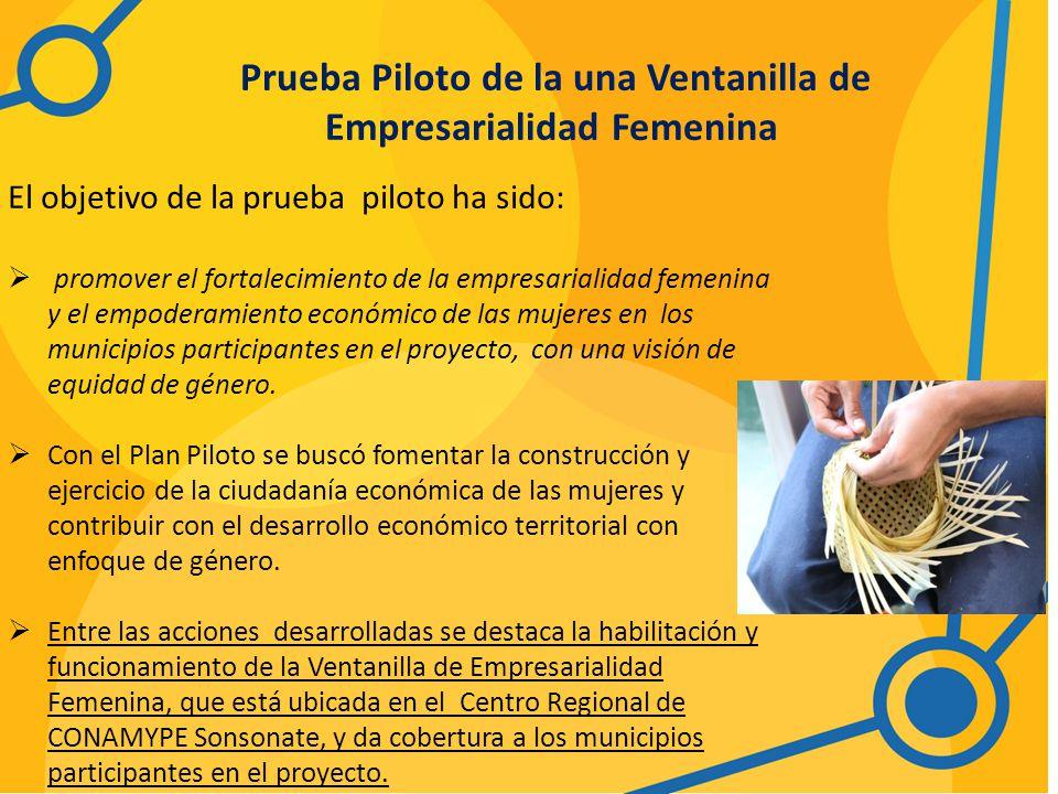 Prueba Piloto de la una Ventanilla de Empresarialidad Femenina