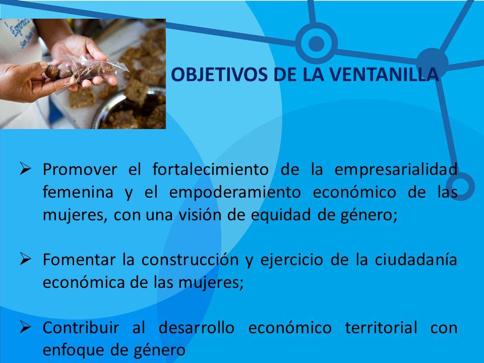 OBJETIVOS DE LA VENTANILLA