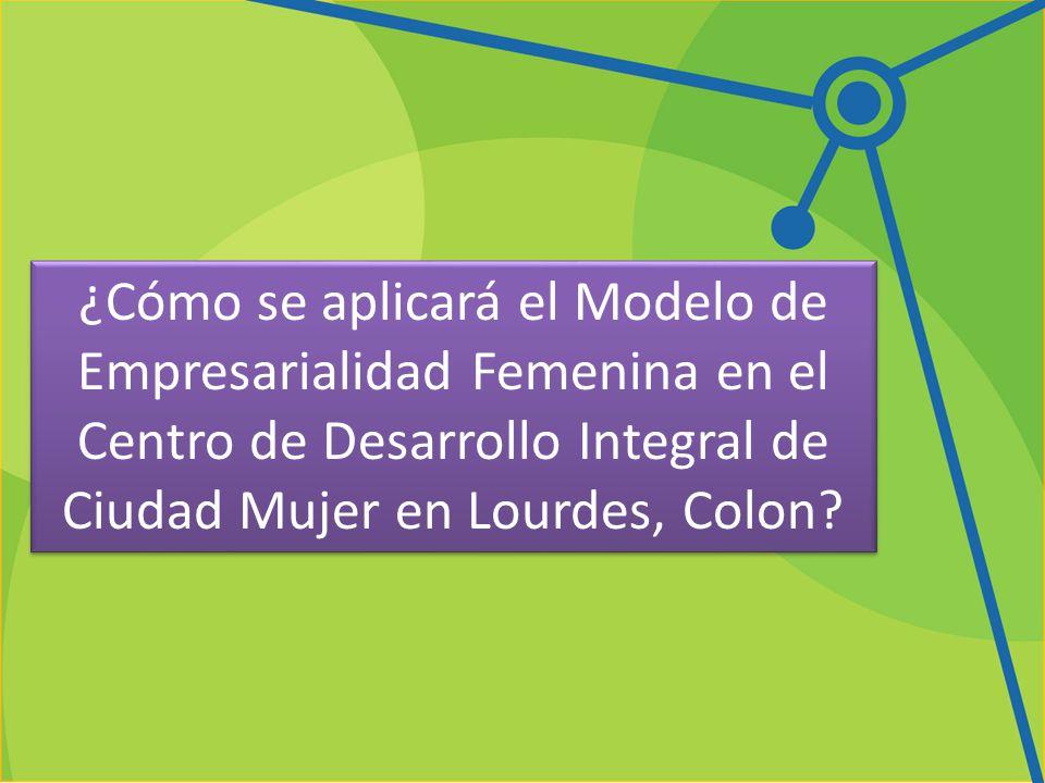 ¿Cómo se aplicará el Modelo de Empresarialidad Femenina en el Centro de Desarrollo Integral de Ciudad Mujer en Lourdes, Colon