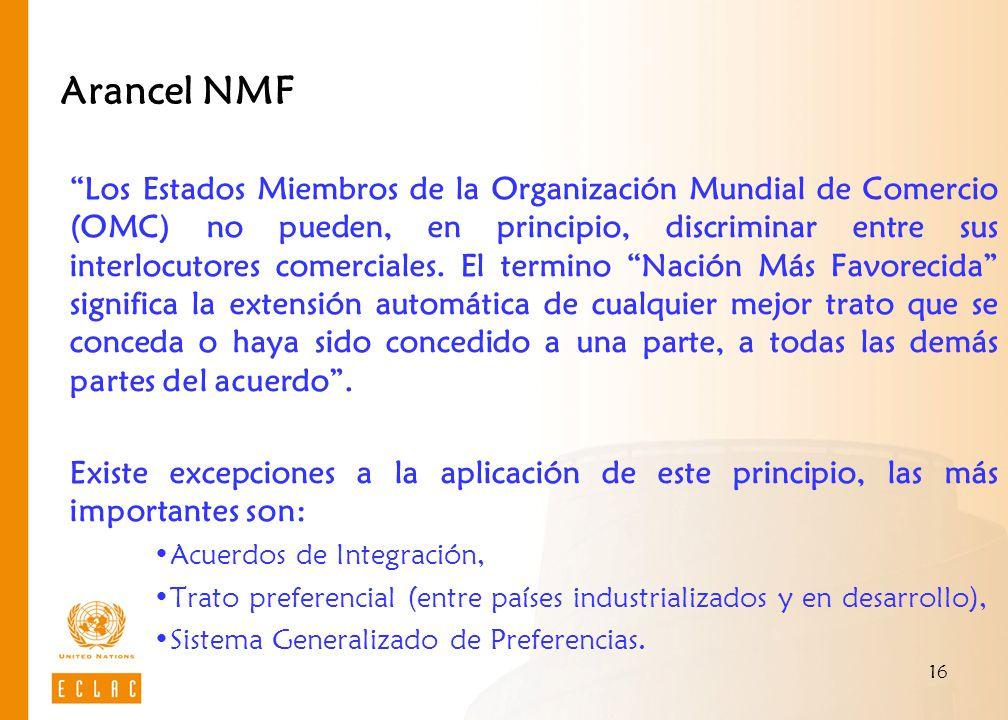 Arancel NMF