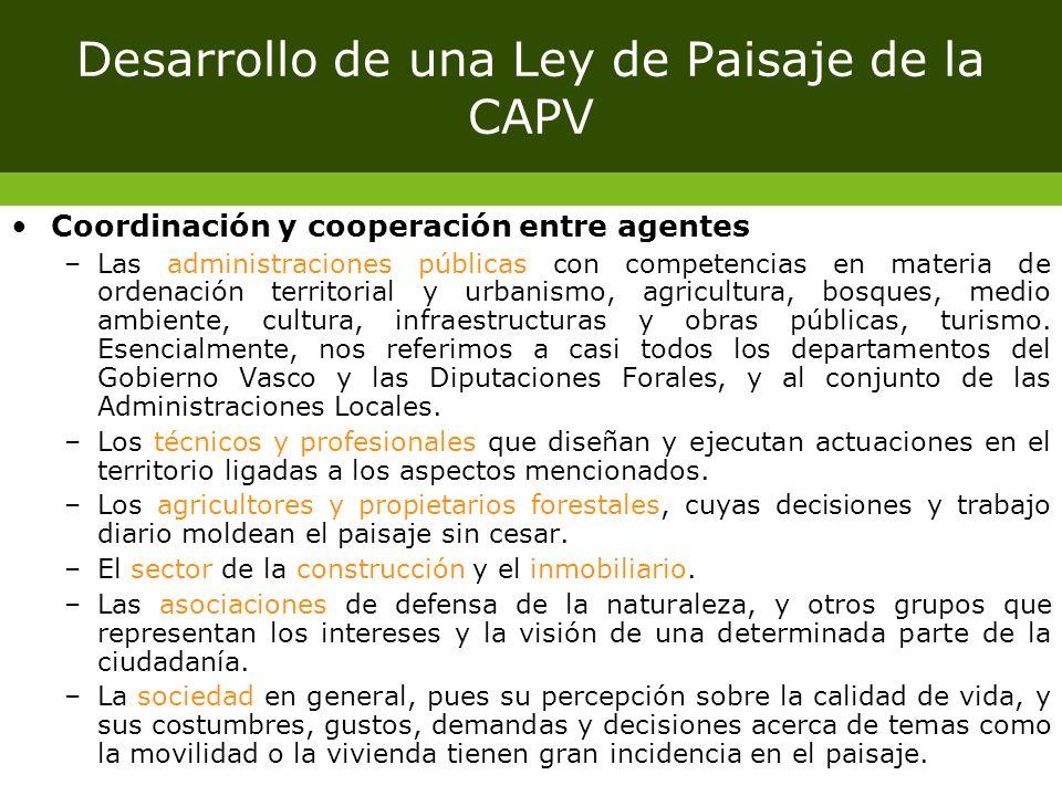 Desarrollo de una Ley de Paisaje de la CAPV