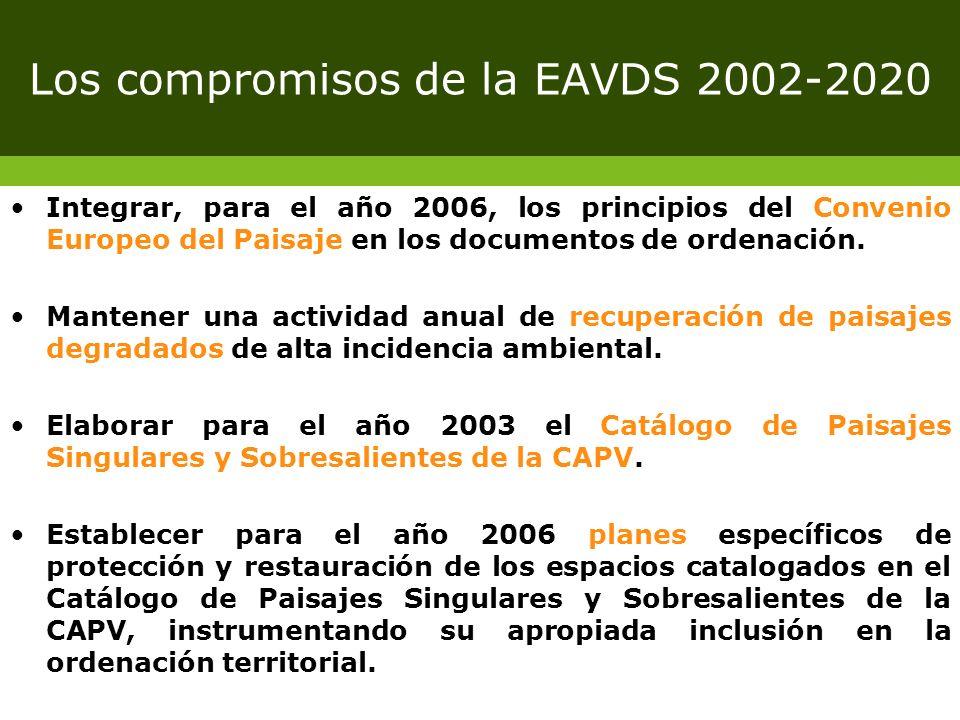 Los compromisos de la EAVDS 2002-2020