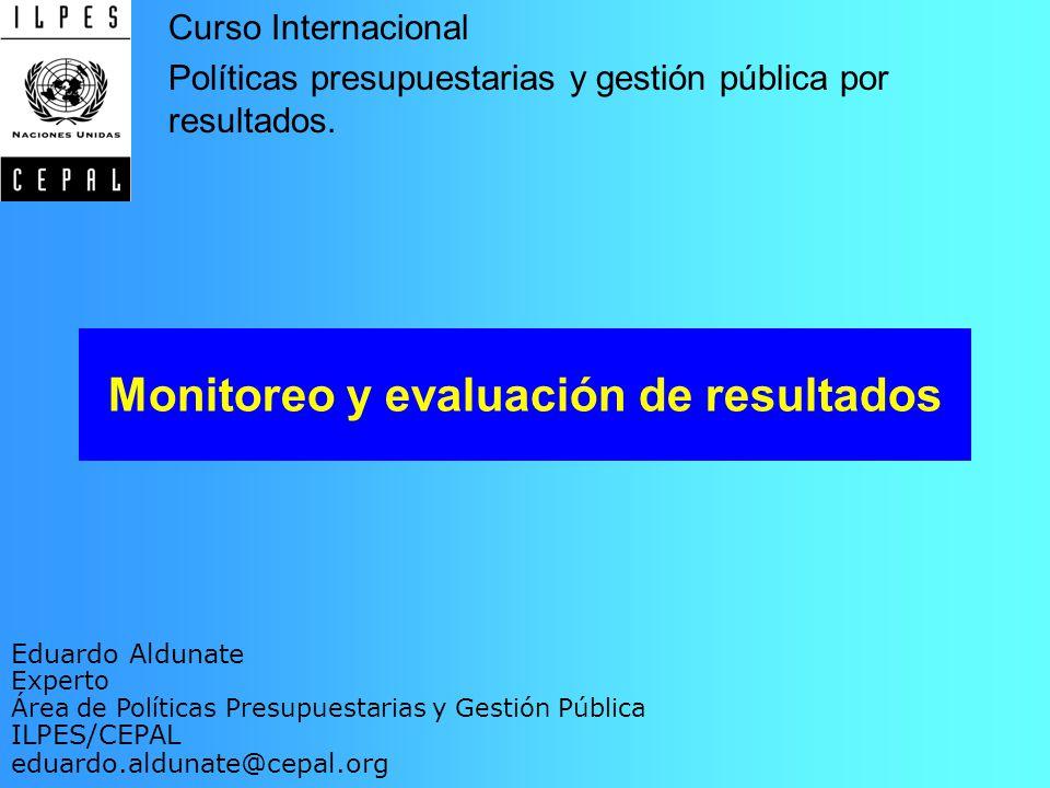 Monitoreo y evaluación de resultados