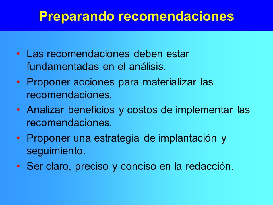 Preparando recomendaciones