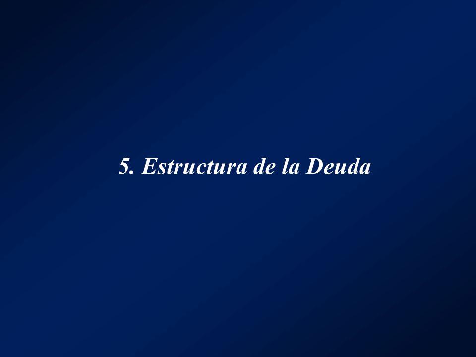 5. Estructura de la Deuda