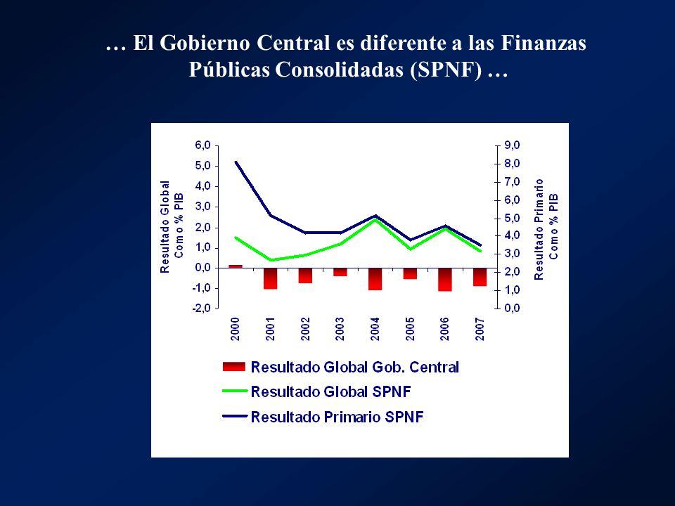 … El Gobierno Central es diferente a las Finanzas