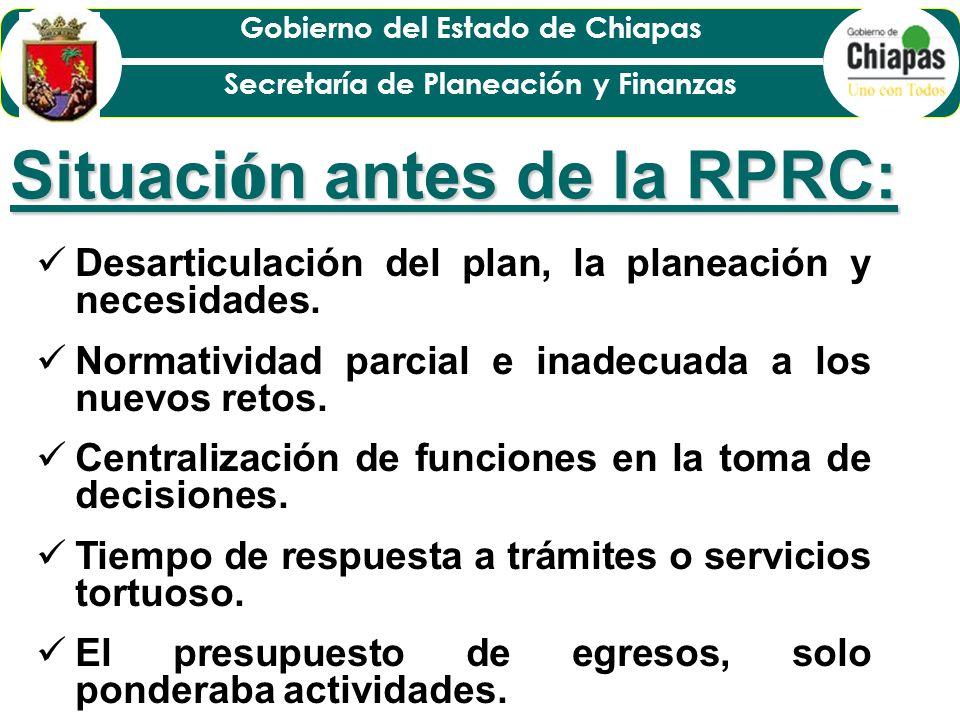 Situación antes de la RPRC: