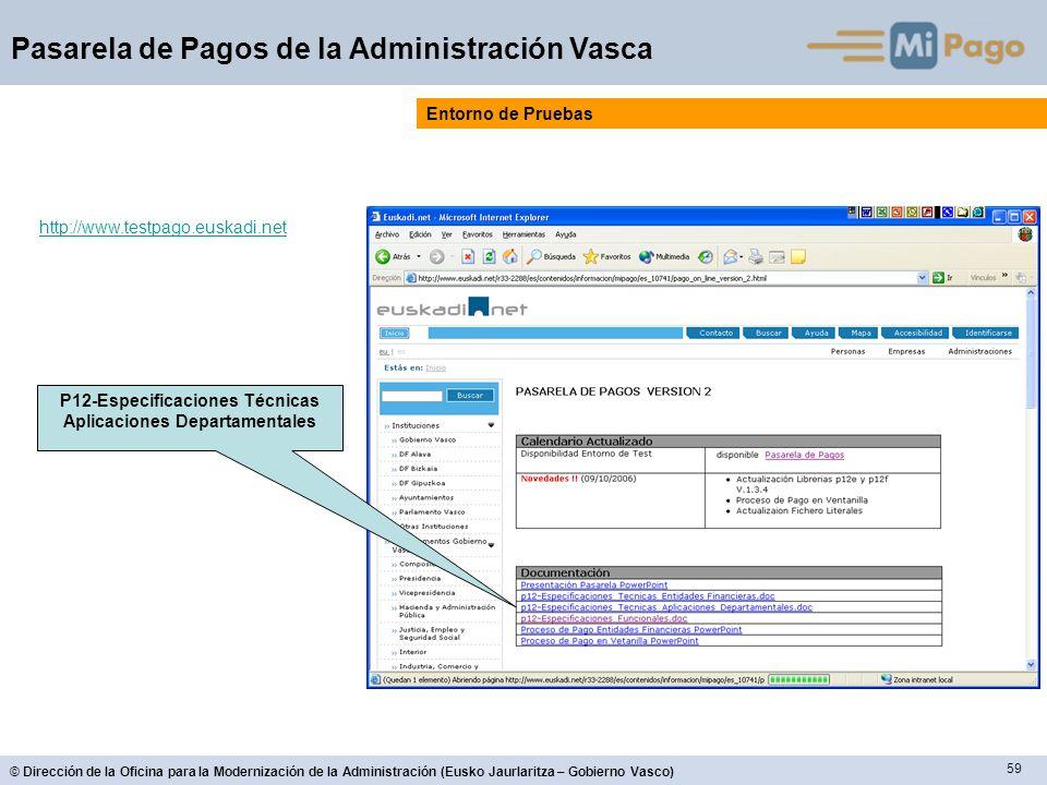 P12-Especificaciones Técnicas Aplicaciones Departamentales