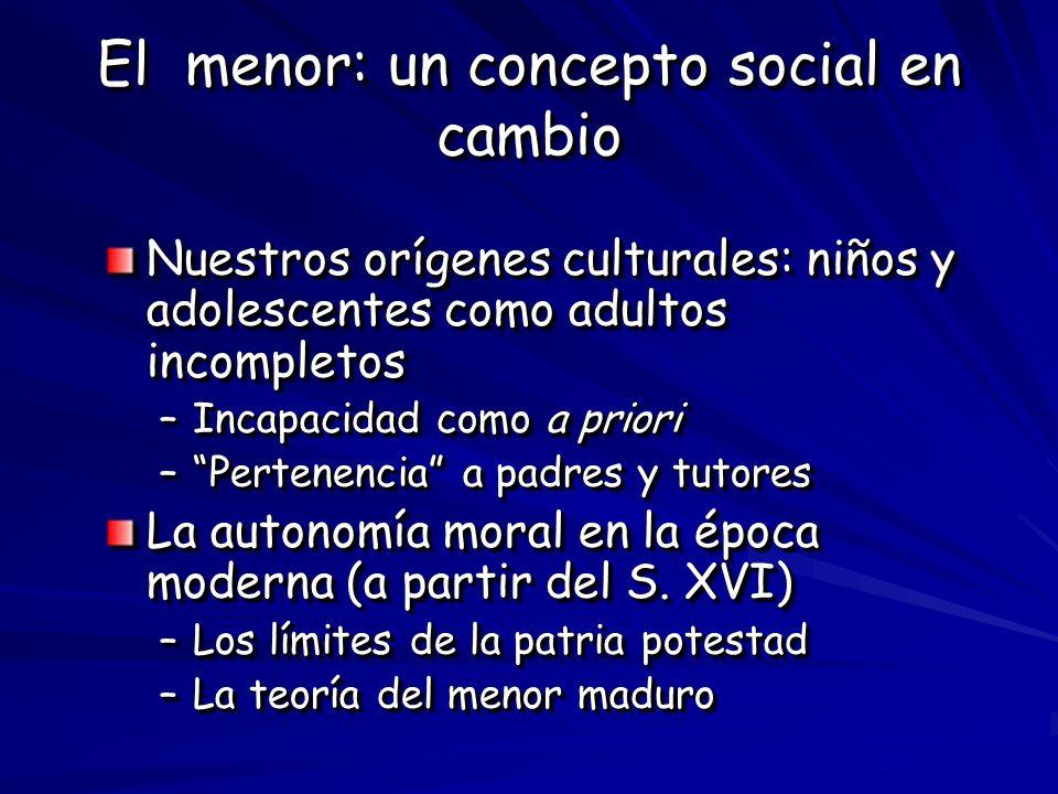 El menor: un concepto social en cambio