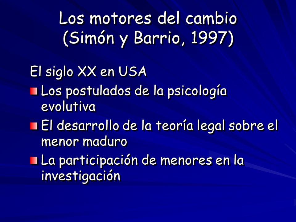 Los motores del cambio (Simón y Barrio, 1997)