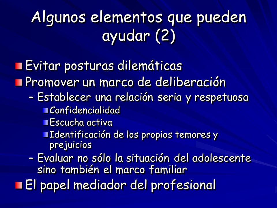 Algunos elementos que pueden ayudar (2)
