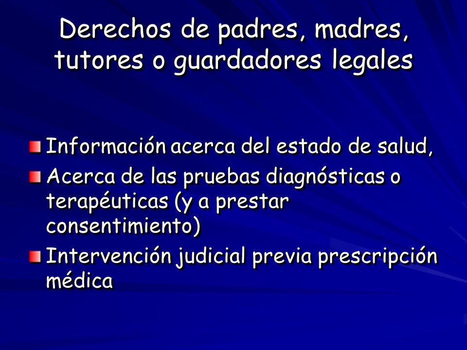 Derechos de padres, madres, tutores o guardadores legales