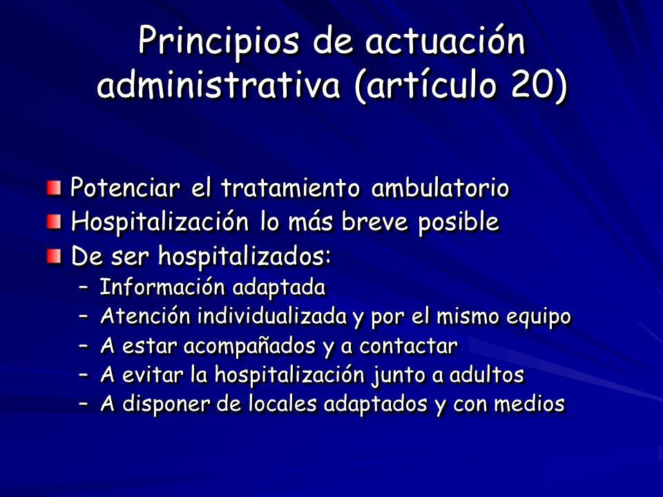 Principios de actuación administrativa (artículo 20)