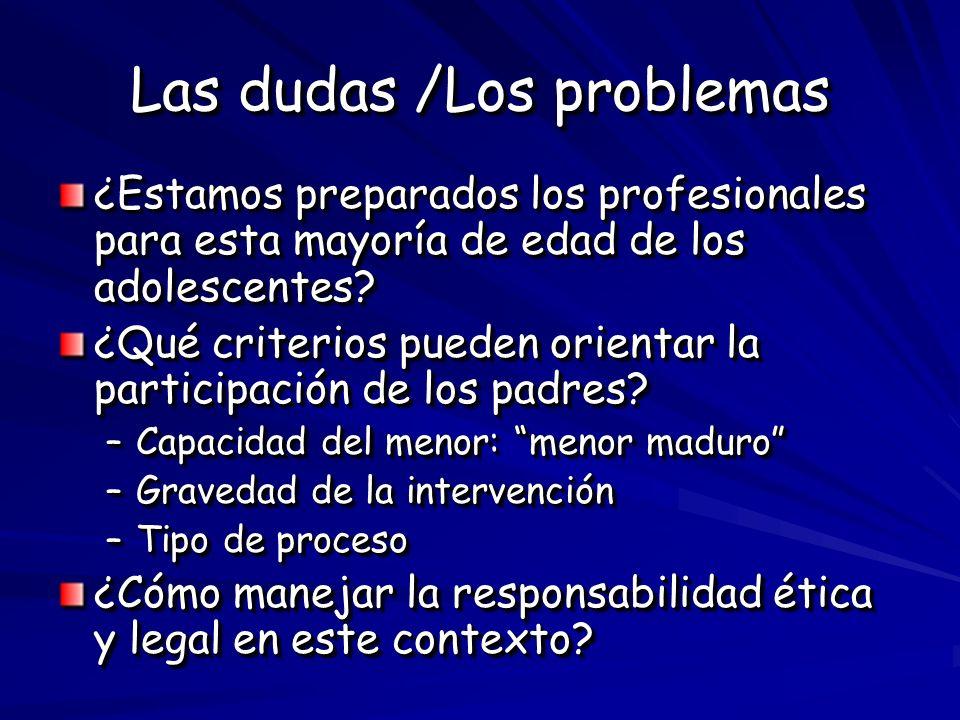 Las dudas /Los problemas