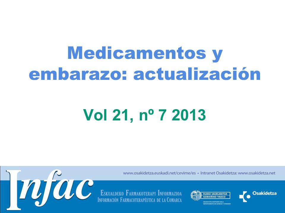 Medicamentos y embarazo: actualización Vol 21, nº 7 2013