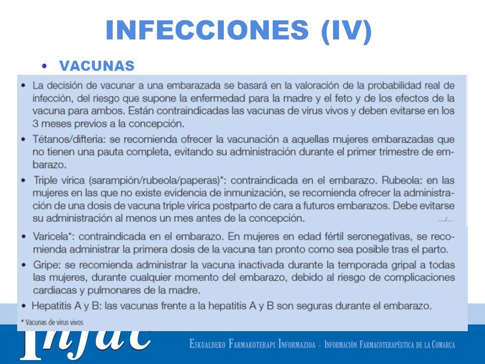 INFECCIONES (IV) VACUNAS