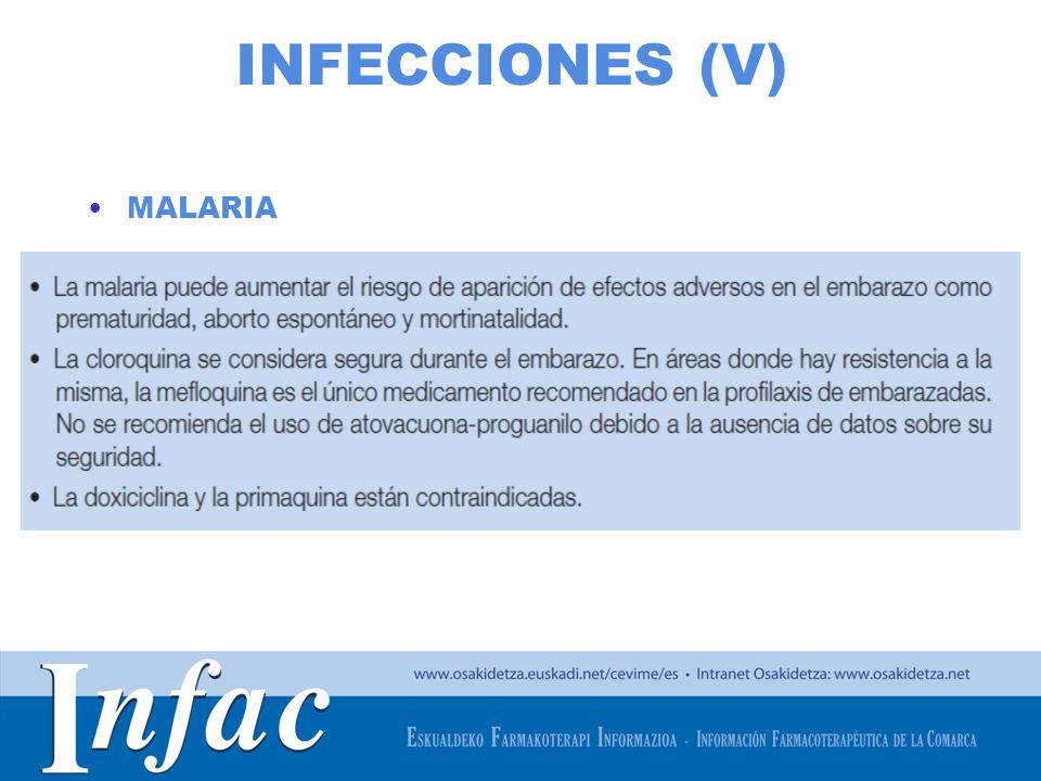 INFECCIONES (V) MALARIA