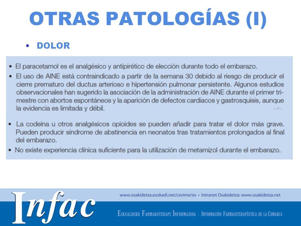 OTRAS PATOLOGÍAS (I) DOLOR