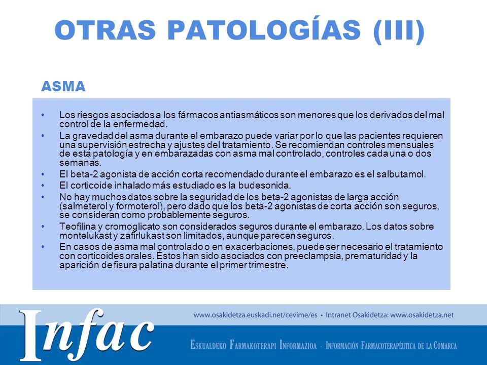 OTRAS PATOLOGÍAS (III)