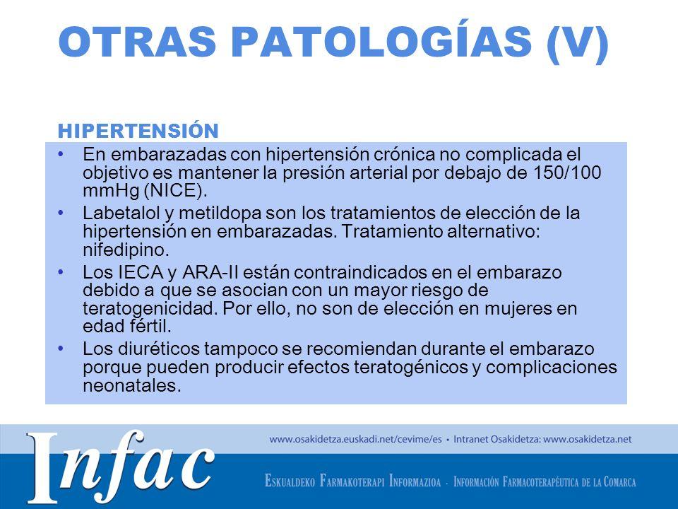 OTRAS PATOLOGÍAS (V) HIPERTENSIÓN