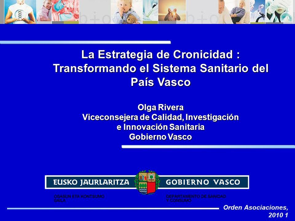 Viceconsejera de Calidad, Investigación e Innovación Sanitaria