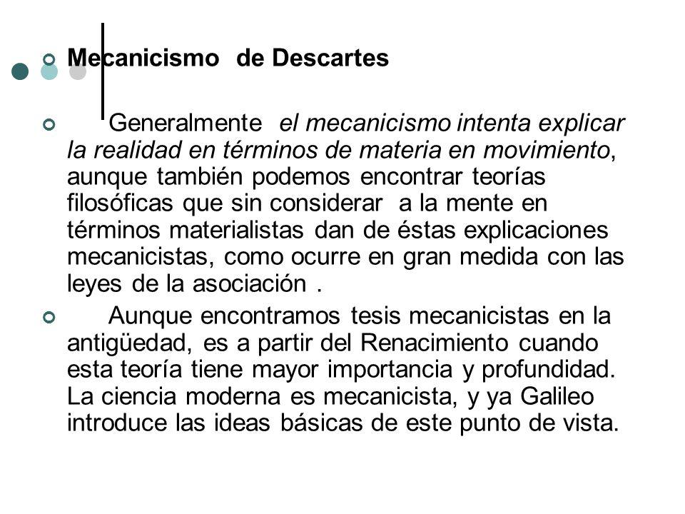 Mecanicismo de Descartes