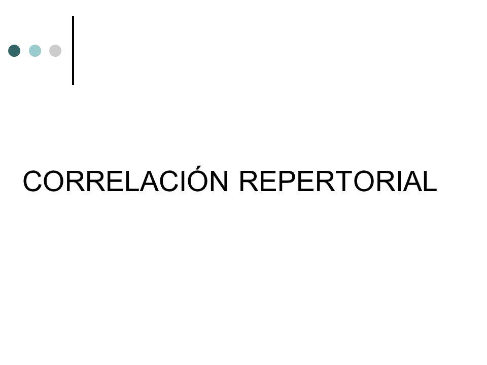 CORRELACIÓN REPERTORIAL