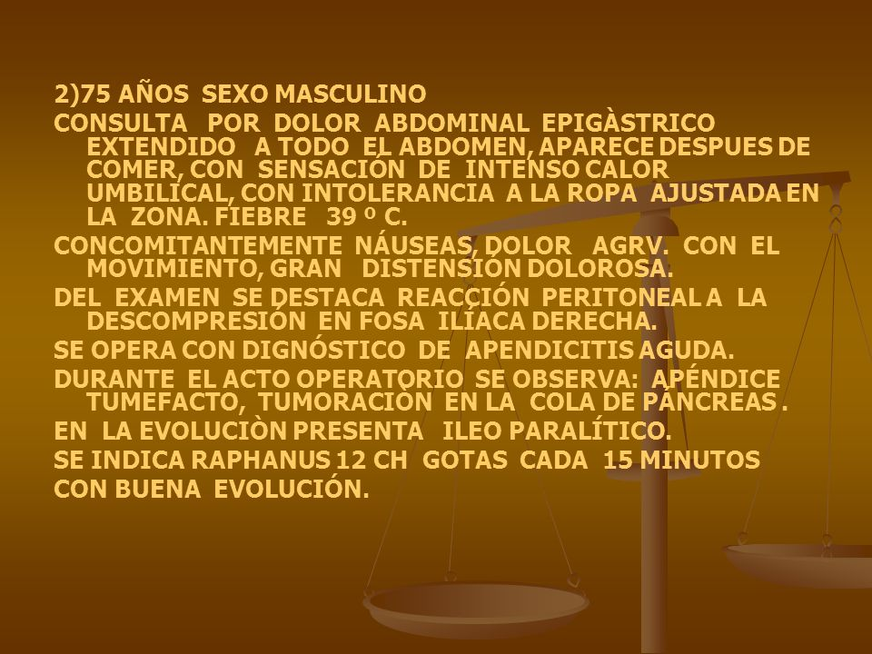 2)75 AÑOS SEXO MASCULINO